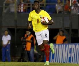 Caicedo anunciou a sua retirada da Seleção do Ecuador. EFE