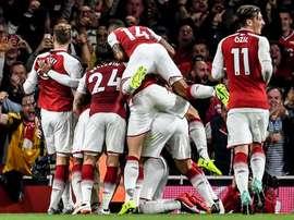 El Arsenal consiguió al remontada con goles de Kolasinac y Ramsey. EFE