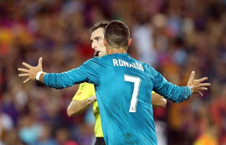 Cristiano Ronaldo fue expulsado en el pasado encuentro ante el Barça. EFE