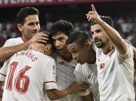 O Sevilla recebeu e venceu o Celta no Sánchez Pizjuán. EFE