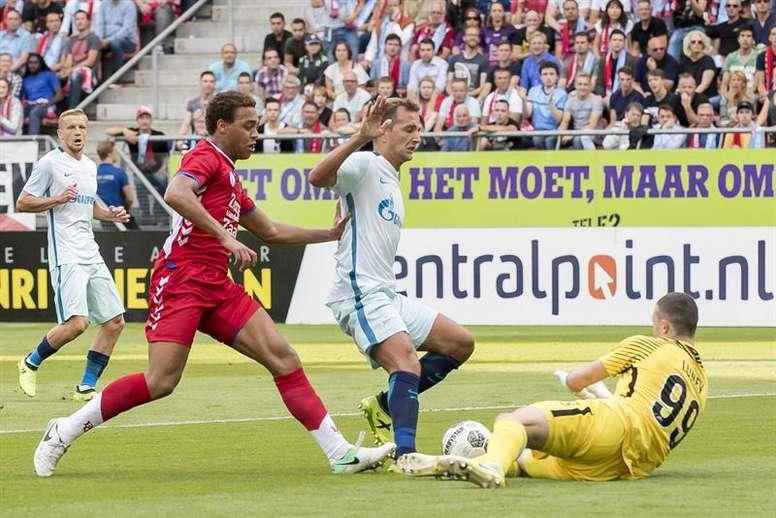 O Utrecht bateu o Zenit por 1-0. EFE/Joep Leenen