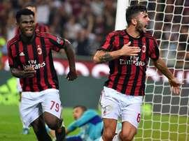 O jovem Cutrone apontou o único gol do desafio. EFE