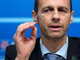 Aleksander Ceferin es el presidente de la UEFA. EFE/Archivo