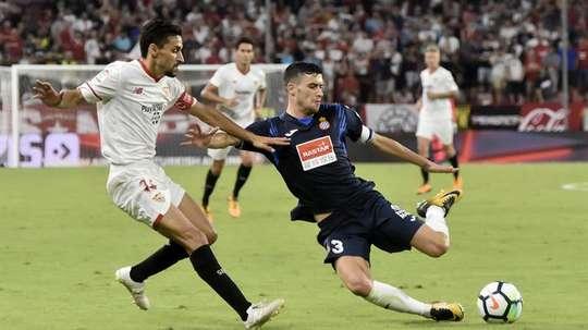 El Sevilla y el Espanyol se verán las caras este domingo. EFE