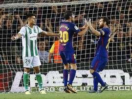 El Barcelona derrotó con comodidad al Betis en el Camp Nou. EFE