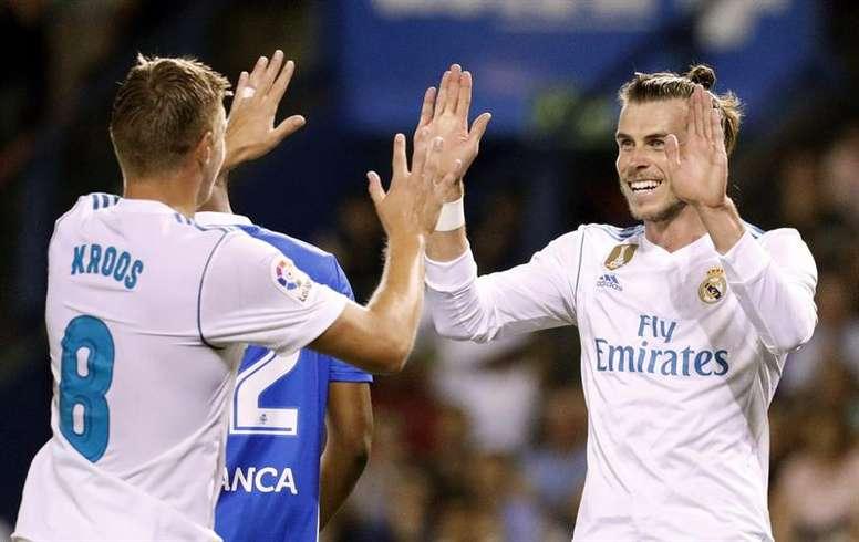 Los dorsales del Madrid fueron diferentes en el choque ante el Dépor. EFE