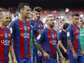 Digne falou sobre Iniesta e Messi. EFE