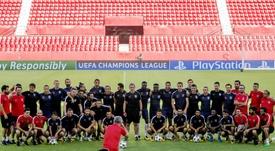 El conjunto turco estuvo a punto de eliminar al Sevilla. EFE/Archivo