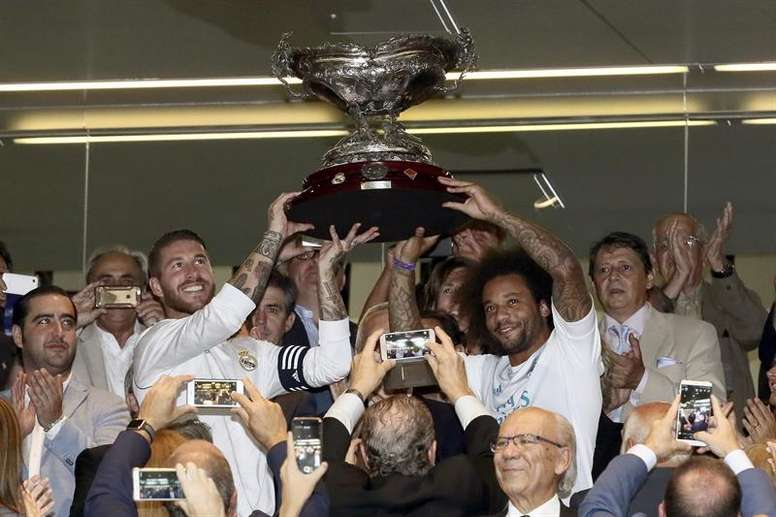 Sergio Ramos en route pour faire grandir son palmarès énorme en Supercoupe. EFE
