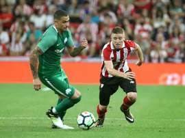 Iker Muniain fez o único gol do encontro, ainda no primeiro tempo. EFE