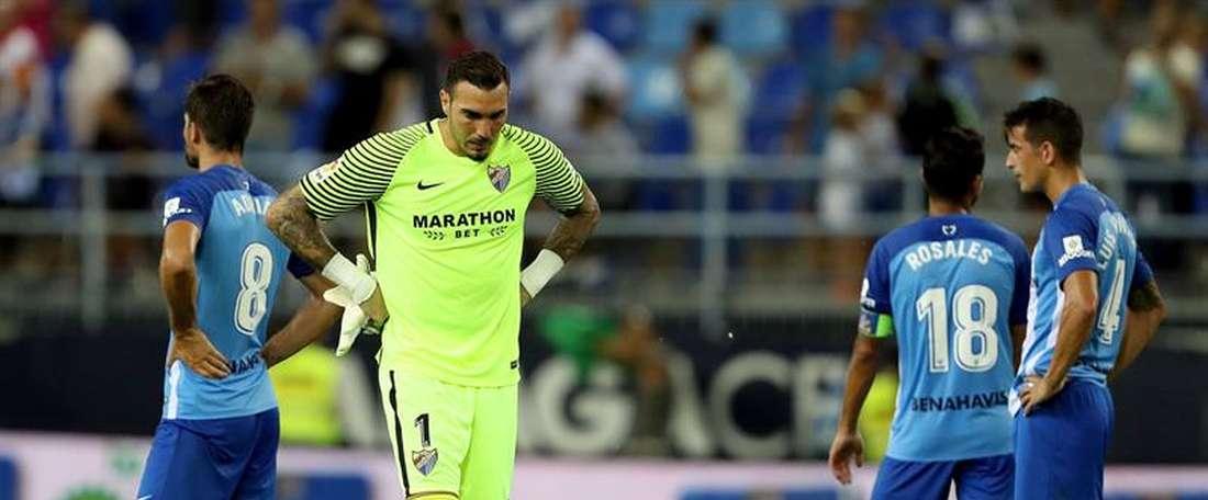 Dois jogos, duas derrotas para o Málaga na liga espanhola. EFE