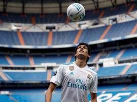 El debut oficial del central con el Madrid se ha hecho esperar. EFE