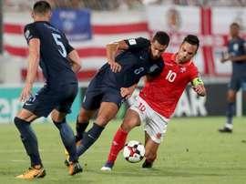 Inglaterra goleó a Malta. AFP