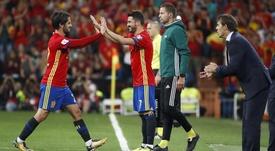 David Villa pourrait ne plus jouer avec l'Espagne. EFE