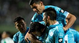 Belgrano se llevó el encuentro desde el punto de penalti. EFE/Archivo