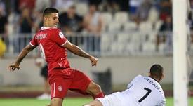 Mitrovic destacó el triunfo sobre Paraguay. AFP