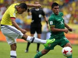 Así ve el defensa boliviano el partido ante Colombia. EFE/Archivo