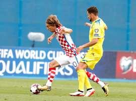 Modric não concordou com a decisão tomada pela FIFA. EFE