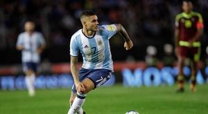 Icardi a évoqué l'absence de Messi. EFE