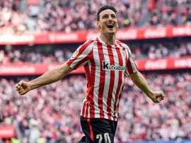 L'attaquant basque empile les buts. EFE