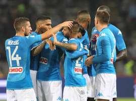 O Napoli venceu sem contestação na receção ao Benevento. EFE/EPA