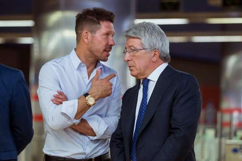 El Atlético ingresará más de 25 millones si vence al Lyon. EFE/Archivo
