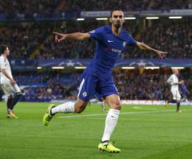 Zappacosta celebrates scoring in the Champions League. EFE
