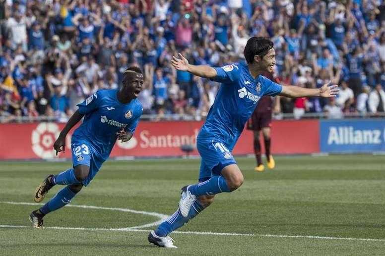 Gaku Shibasaki, centrocampista japonés del Getafe (Foto: EFE).