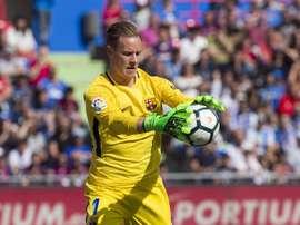 A figura maior da segurança defensiva do Barça: Marc-André ter Stegen. EFE