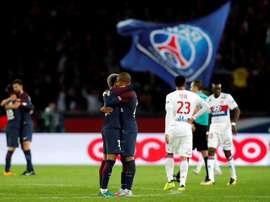 Os parisienses acabaram por ser felizes diante do Lyon. EFE/EPA
