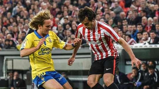 Halilovic ha hecho una temporada discreta en Las Palmas. EFE/Archivo