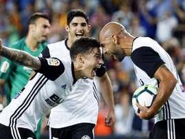Zaza hat-trick fires five-star Valencia into third. EFE