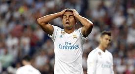 Casemiro est déçu du match nul face à Levante. EFE