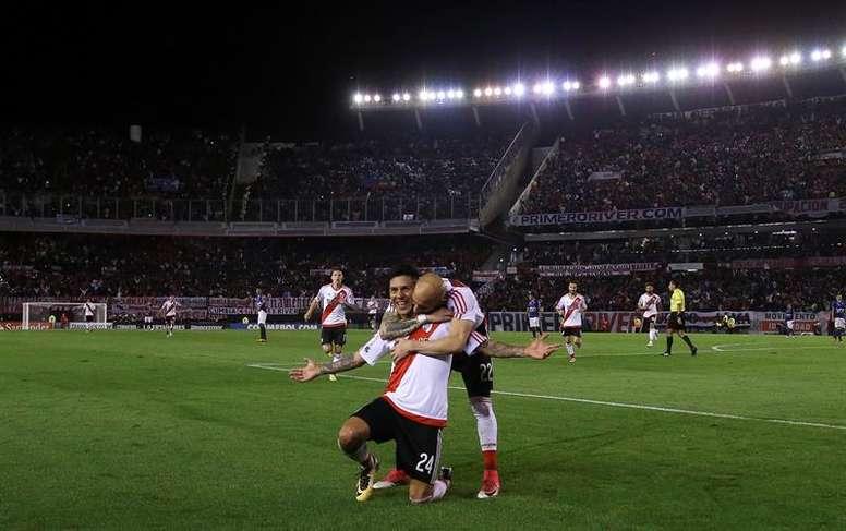 Jorge Wilstermann encajó ocho goles de River. EFE
