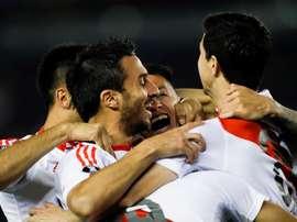 Scocco marcó el gol por parte de River Plate. EFE/Archivo