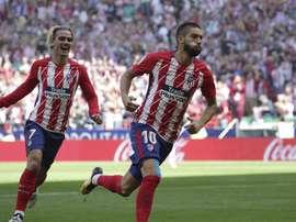 Carrasco e Griezmann foram os autores dos gols do Atlético. EFE