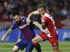Messi n'a pas marqué contre Girona. EFE