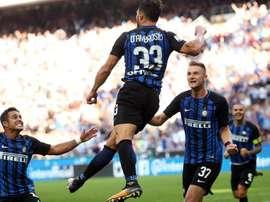 D'Ambrosio foi o 'herói' do Inter. AFP