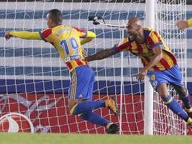 O Valencia bateu a Real Sociedad na sexta rodada da LaLiga. EFE