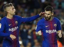 Messi a 'volé la vedette' à Deulofeu. EFE
