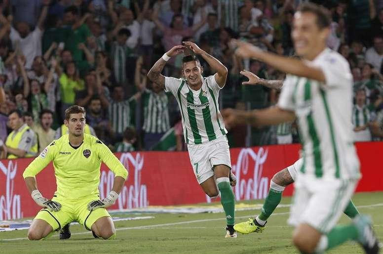 Betis alcança a quinta posição na LaLiga. EFE