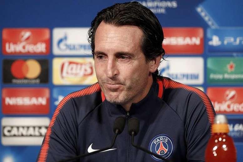 Emery cree en el potencial de su PSG para batir al Madrid. EFE
