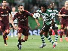Barça derrota Sporting CP em Alvalade, pela Champions League. EFE