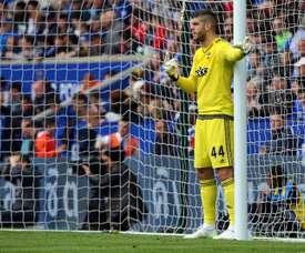 Fraser Forster has not played a Premier League match since Boxing Day. AFP