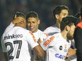 Santos se dejó los tres puntos ante Chapecoense. EFE/Archivo