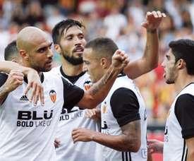 Valencia bateu o Athletic de Bilbao por 3-2. EFE
