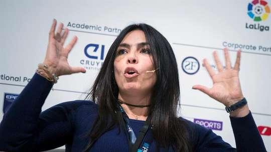 Pilar Abella analizó la primera temporada de la liga femenina de Colombia. EFE/Archivo