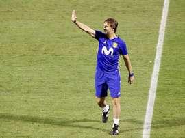 O técnico de 'La Roja' mostrou a sua satisfação pelo apuramento para o Mundial estar garantido. EFE