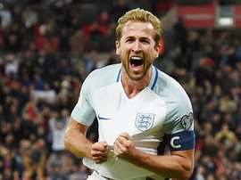 Harry Kane no ataque à Lituânia. EFE