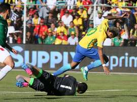 Brasil não conseguiu mais do que empatar a zeros na Bolívia. EFE